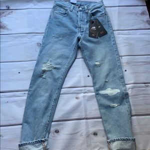Women's Levi's 501 High Rise Button Fly Jeans